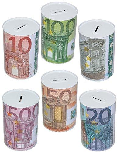 Euro Spardosen Metall »die Geschenkidee« (6er Set)