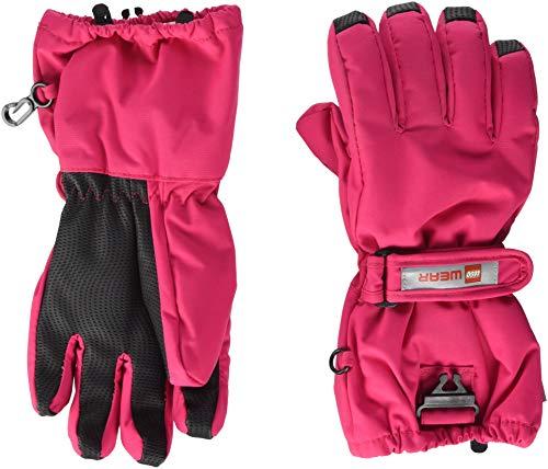 Lego Wear Mädchen Handschuhe LEGO Tec AIDEN 703 20277, Gr. 7.5 (Herstellergröße: 158/164), Pink (Dark Pink 490)