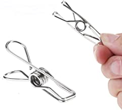 Mosquick Stainless Steel Multipurpose Sturdy Clothes Hanging Clips, Clothes Drying Clips, Clothes Pegs, Clothespin,Rust Proof -Set Of 24 Clips
