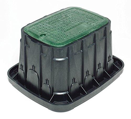 Rain Bird - VB-STD-H - Arqueta VB Standar con cierre. Cuerpo negro y tapa verde con tornillo hexagonal, 2 salidas precortadas amplias y 11 salidas laterales