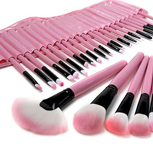 Professional Makeup Tools 32 Pièces Color Makeup Brosses Avec Des Kits De Cosmétiques Sac En Cuir