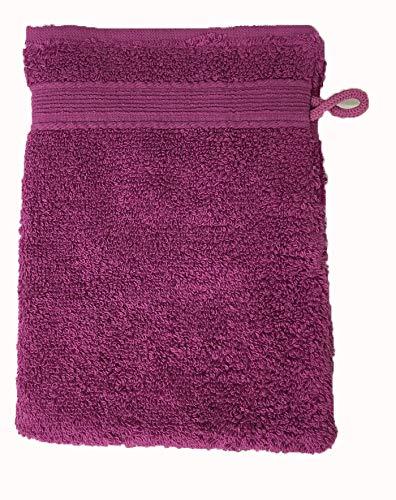 Alpes Blanc Lot de 10 Gants de Toilette 600gr/m² 100% Coton/Set de 10 Gants de Toilette Ultra-Confort (Violet/Purple)