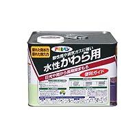 アサヒペン 水性かわら用 銀黒 7L