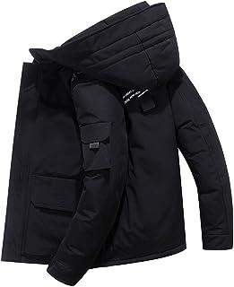 ダウンコート メンズ フード付き 着脱可 厚手 中綿 裏起毛 アウター 暖かい 冬 ダウンジャケット 防風 防寒 冬服