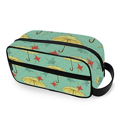 Paraplu windmolen papierkranich naadloos patroon Kleurrijke draagbare make-up tas reisopslaggereedschap cosmetische tas portemonnee toilettas