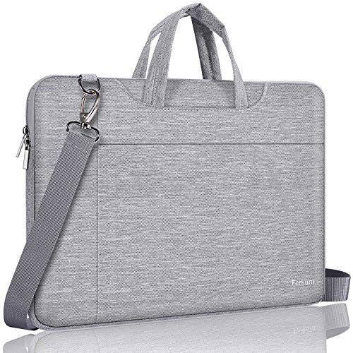 Ferkurn Laptop Case Bag 15 15.6 Inch Laptop Carrying Case Compatible with MacBook Pro 16 Inch/Pavilion 15/ Toshiba/Asus/ThinkPad/Samsung,Water Resistant Protective Computer Shoulder Strap Sleeve