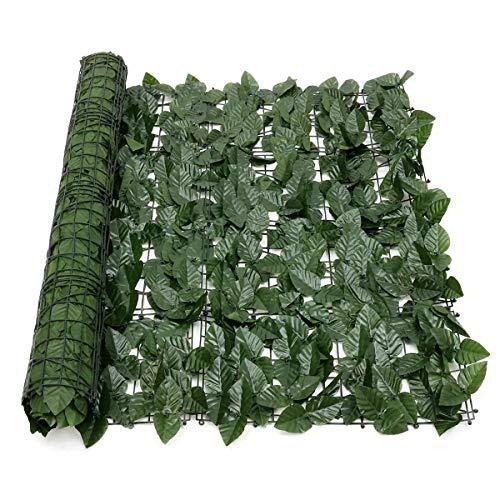 HUDEMR Cerca del jardín Cerca de la Pared expansión de la Hoja Artificial Lvy Green Garden Pantalla Hedge Decoración Verde Cercas y Vallas Decorativas (Color : Green, Size : 100 * 300cM)