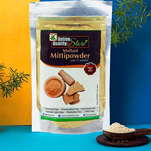 Online Quality Store Multani Mitti Powder for Face Pack Powdered Form Organic with No Chemical Added (200 G)