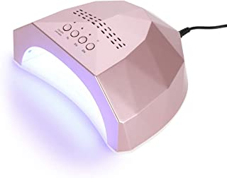 Filfeel 48W Nail Dryer Lamp, Nail Gel Polish Curing Manicure Machine Salon Drying Art Tool with 5s, 30s, 60s Time Setting Function(Rose Gold)
