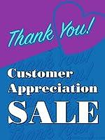 顧客感謝セール小売ディスプレイサイン 幅18インチ x 高さ24インチ フルカラー 5パック