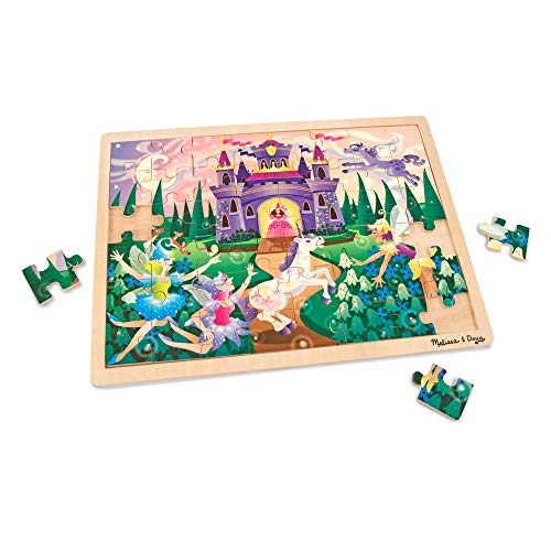 Educational toy idea for your preschooler! Melissa and Doug wooden fiary castle puzzle! This toy is great for fine motor skills.