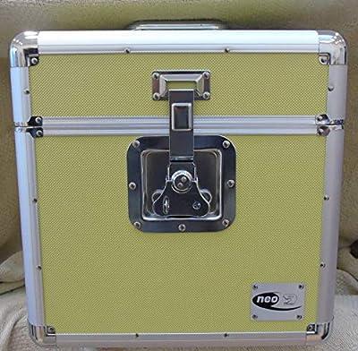 "Yellow Neo 12"" 100 LP Vinyl Record Single Aluminium DJ Flight Carry Case"