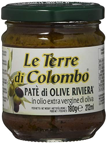 Le Terre di Colombo – Riviera-Olivenpaste in nativem Olivenöl extra (10 {b60a90aee3a93257fc1e74a70e8f500ee1e7fd497830656ffe28a7d9ac0076c5}), 6er-Packung, 212 ml