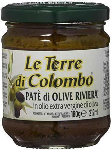 Le Terre di Colombo – Riviera-Olivenpaste in nativem Olivenöl extra (10 %), 6er-Packung, 212 ml