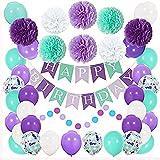 YHLO Decoraciones de la Fiesta de cumpleaños, Globos para la Fiesta de cumpleaños, Decoraciones de la Fiesta de Soltero para niños niños niños y niñas Decoración de cumpl