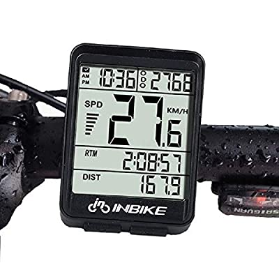 Aiccossr Odometer with LCD Display for Bicycle, Wireless Bike Computer Waterproof Speedmeter Automatic Wake-up Cycling Odometer for All Bikes