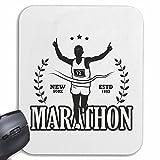 Mousepad alfombrilla de ratón MARATHON MARATHON corredor de maratón EE.UU. CAMISA MARATHON MEDIA MARATÓN DE SAN DIEGO CALIFORNIA atletismo MARATHON para su portátil, ordenador portátil o PC de Intern
