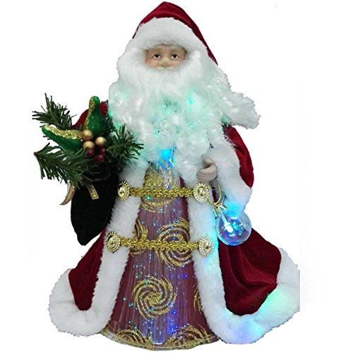 "LED Santa 12"" Fiber Optic Tree Topper or Table Centerpiece"