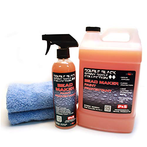 P&S Detailing Products C2501 + C250P Bead Maker Paint Protectant Combo Kit (1 Gallon + 1 Pint) with 2- Extra Soft Woobie Microfiber Towel