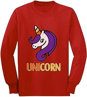 Cute Halloween Candy Corn Unicorn Youth Kids Long Sleeve T-Shirt
