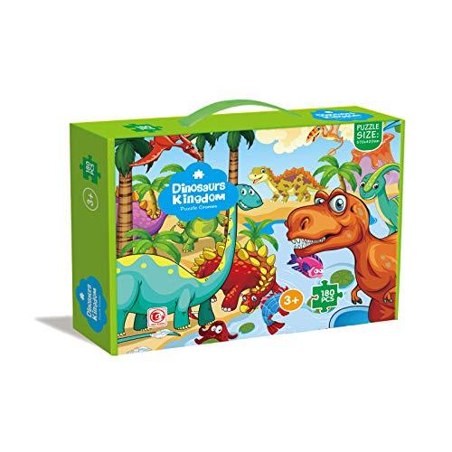 Puzzle Dinosaurios de la Prehistoria, puzle de 180 Piezas, Juego Educativo y Creativo, Rompecabezas para niños y niñas a Partir de 3 años