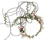 Floral Fall Adjustable Bridal Flower Garland Headband Flower Crown Hair Wreath Halo F-83 (A)