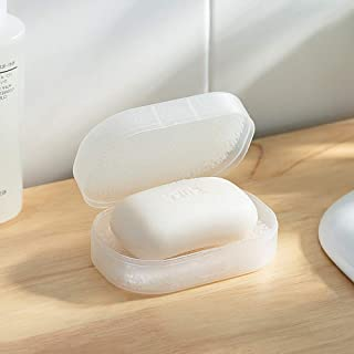 Poeland Travel Soap Box Portable Soap Tray Holder for Bathroom Kitchen Outdoor Trips Pack of 2