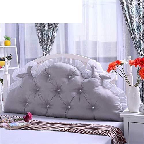J-Kissen Dreieckigen Keilkissen, große weicher Polsterkopfteil gefüllte Kissen, Rücken Lange Kissen Lese Kissen, for Daybed Lumbalpelotte (Color : H, Size : 1.2M)