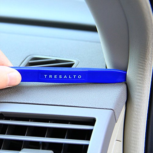 Tresalto Auto Trim Removal Tool Set [Non Marring and No Scratch] Auto Trim Kit for Easy Removal of Car Door Panels, Fasteners, Molding, Dashboards and Wheel Hubs, 5 PCS