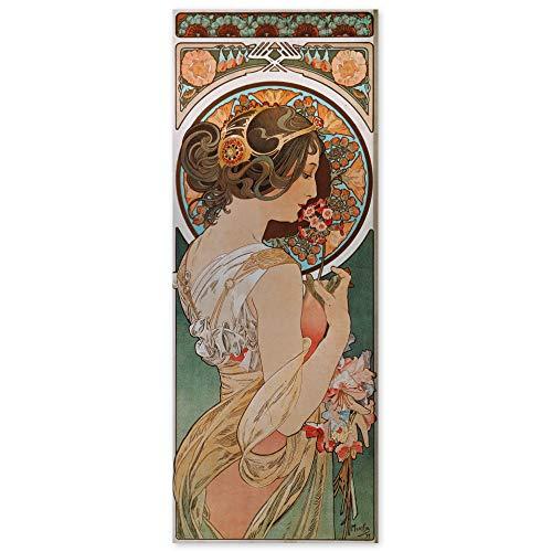 JUNIWORDS Poster, Alfons Maria Mucha, Schlüsselblume, 20 x 52 cm