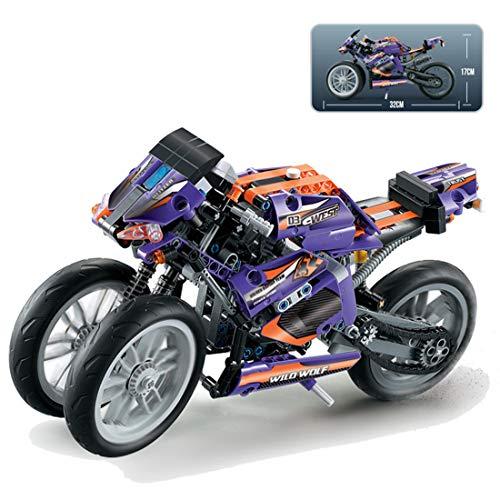 PARIO Juego de 485 piezas Custom Motorcycle para moto, juego de construcción de moto de calle, para minifiguras, juguete de construcción compatible con Lego