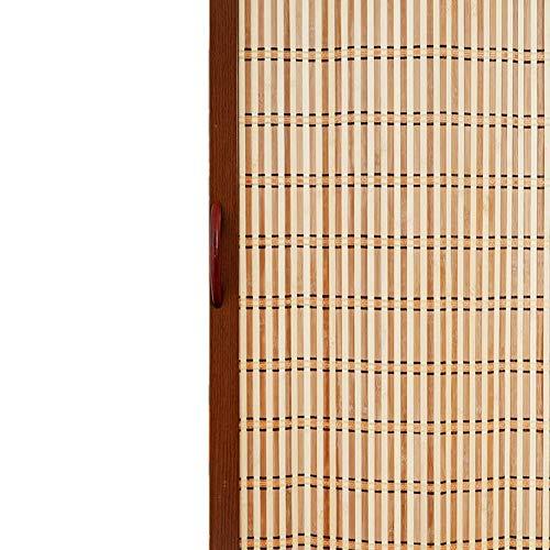JCNFA PERSIANAS Cortina Plegable De Bambú Enrollable, La Polea Se Mueve Hacia La Izquierda Y Hacia La Derecha, La Tasa De Sombreado Es Del 80%, Marco De Puerta De Aleación De Aluminio, Cocina, Dormito