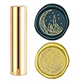 CRASPIRE Wax Seal Stamp, Sealing Wax Stamps Castle on The Moon Mini Brass Stamp Gun Wax Seal 15mm for Envelope Invitation Wedding Embellishment Bottle Decoration