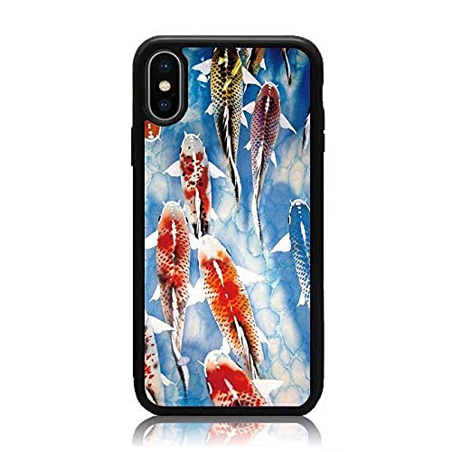 Cajas de teléfono Negras para iPhone 12/12 Pro MAX 12 Mini 11 Pro MAX SE X XS MAX XR 8 7 6 6s Plus Funda Swimming Carp Funda Protectora de Silicona TPU