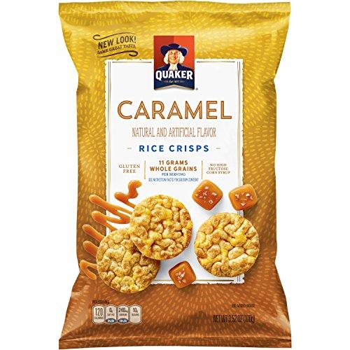 Quaker Rice Crisps, Gluten Free, Caramel, 7.04oz Bags, 6 Count