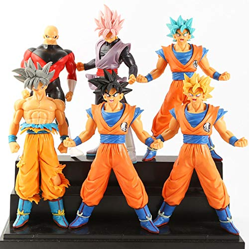 zzdgfc 6 Pcs 16Cm Dragon Ball Son Goku Son Gohan Cell Action PVC Collection Model Toy Anime Figure Toys For Kid Gift
