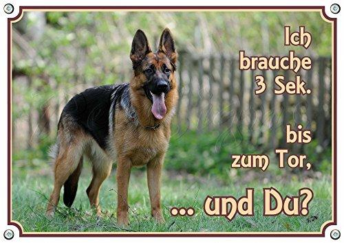 Petsigns Warnschild Schäferhund - TOP Hundeschild - 1,5 mm stabile Metallplatte, DIN A4