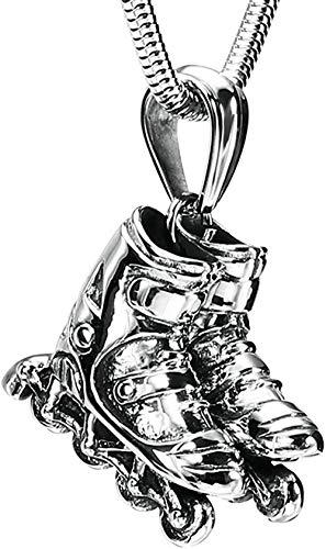 NC110 Männer Frauen Persönlichkeit Mode Einfach Cool Street Moderne Mode Halsketten Männer Edelstahl Anhänger Halsketten Skateboard Schuhe