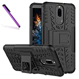 COTDINFORCA Case for Huawei Mate 10 Lite Tyre Pattern Design Heavy Duty Tough Protection Case with Kickstand Shock Absorbing Detachable 2 in 1 Case Cover for Huawei Mate 10 Lite/Nova 2i. Hyun Black
