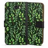 DeinDesign Étui Compatible avec Huawei Y6 II Compact Étui Folio Étui magnétique Eucalyptus...