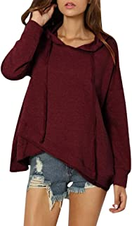 OTTATAT Hooded Pullover for Womens, 2019 Autumn Winter Solid Casual Pattern Plus Size Long Sleeve Sweatshirt Top