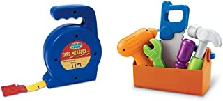 Learning Resources Play Tape Measure, 3 Feet Long, Construction Toy, Easy Grip, Ages 3+,Multi-Color & New Sprouts Fix It!,...