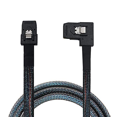 OIKWAN Internal Mini SAS SFF-8087 to Right Angle SFF-8087, Internal Mini SAS to Mini SAS Cable, Compatible with RAID or PCI Express Controller(32 inch/0.8M)