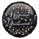 Amscan 3771401 Folienballon Herzlichen Glückwunsch, Gold