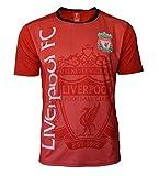Liverpool Fußballtrikot für Erwachsene, personalisierbar, Name und Nummer, Herren, black , red, Large