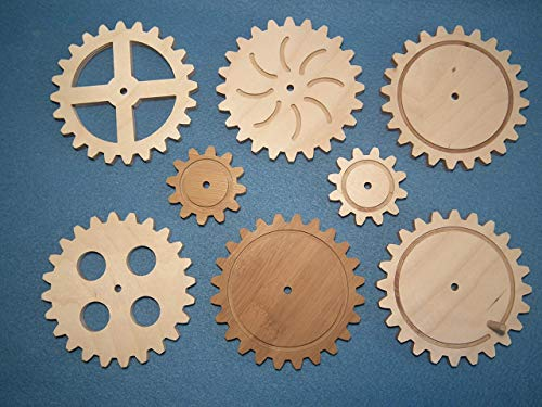 Echtes Holzzahnrad aus Birkemultiplex 9 mm stark zum basteln und dekorieren