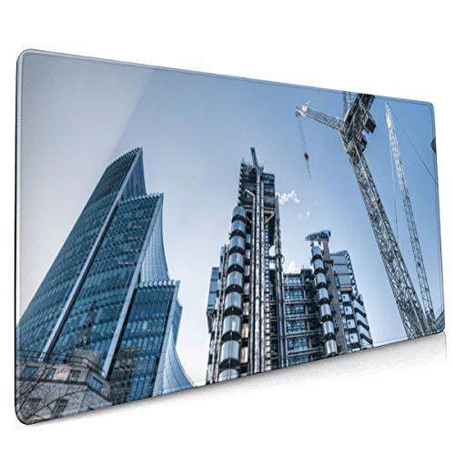 Bouwwerkzaamheden Bouwen Job Beroep Architectuur Ontwerp Muis Pad Niet Slip Rubber Grote Gaming Toetsenbord Mat 15.8x35.5 In