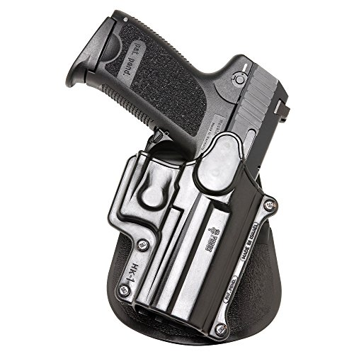 Fobus Roto Holster RH Paddle hk1rp H & K Compact & USP 9mm/40y 45, tamaño Completo 9mm/40/S & W Sigma Series 9/40VE/E/G/FN49Ruger SR9/Taurus Millenium .40(Pro Modelos consult