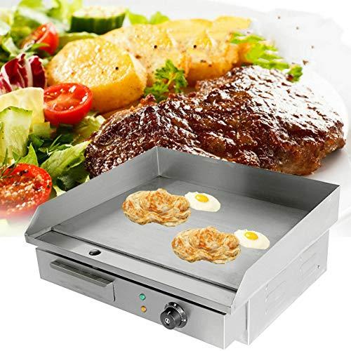 TryESeller Elektrische Grillplatte Barbeque Grill Heiße Platte Speck Ei Wurst Fritteuse Pfannkuchen (3000W)