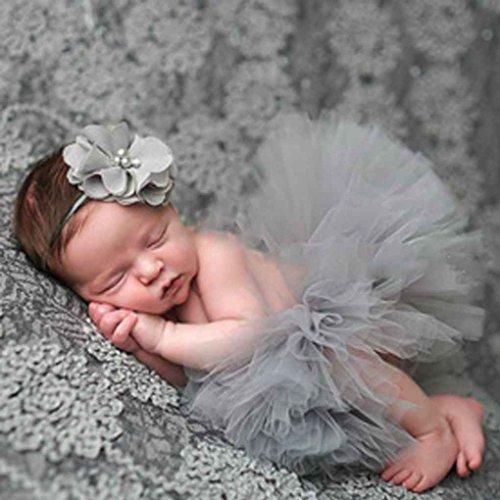 Wuderland Linda Princesa apoyos de la fotografía del recién Nacido Infantil del bebé del Traje de la técnica fotográfica con el Vestido del Verano del bebé Venda de la Flor